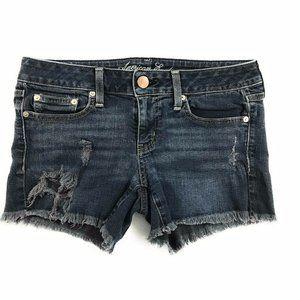American Eagle Womens Dark Washed Shorts, 8